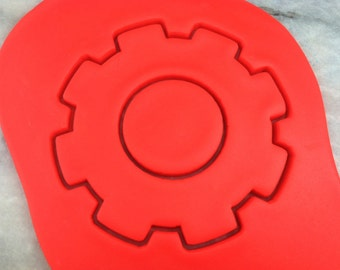 Gear Cookie Cutter #1 - SHARP EDGES - FAST Shipping - Choose Your Own Size!