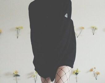 human nature vintage y2k 90s 80s fleece longsleeve halfzip sweater sweatshirt jumper dress