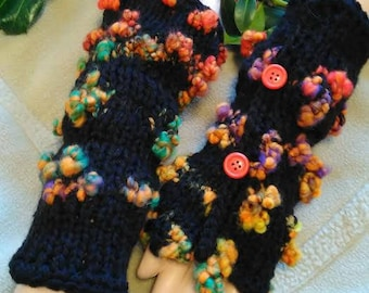 Fingerless gloves wool Winter fairy