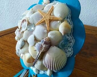 bouquet de mariée en coquillage fait main mariage thème mer