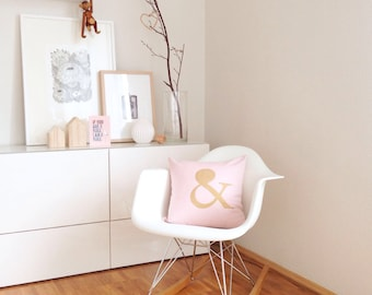 Rosé Gold Combo Pillow with ' & '