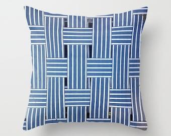 Photo Pillow Cover Decorative Blue Pillow Summer Pillow Cottage Pillow Ocean Decor Beachy Pillow