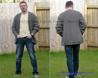 Knitting Pattern - Gear Cardigan (Adult sizes)