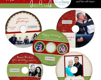 CD/DVD Labels from the Holiday Joy Collection - Photographer Templates
