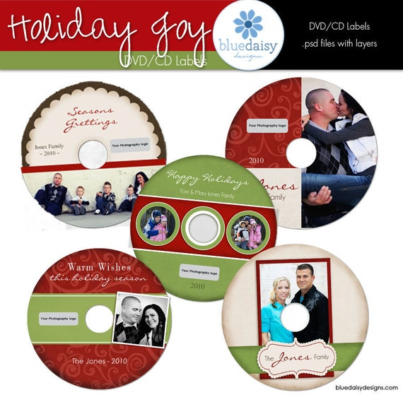 cddvd labels from the holiday joy collection photographer