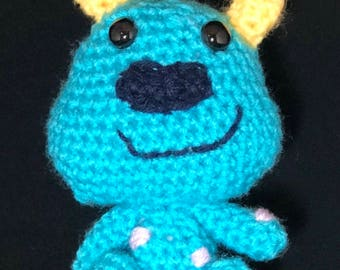 Crochet Sully, Monsters Inc., amigurumi, plush, toy, stuffed toy, monster, sully