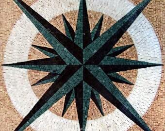 Nautical Mosaic Square - Doris