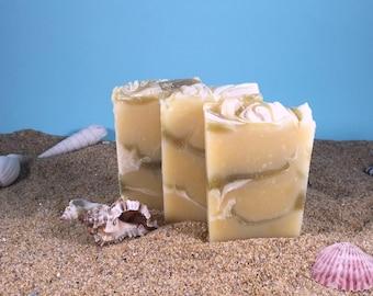 Sage Citrus Soap /Mini Essential Oil Soap, All Natural Soap, Sample, Sage Soap, Homemade Soap, Babassu Soap, Cocoa Butter Soap, Lemongrass