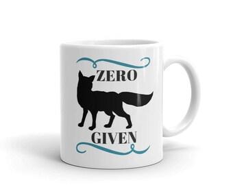 Zero Fox Given Ceramic Coffee Cup Tea Mug Black Fox
