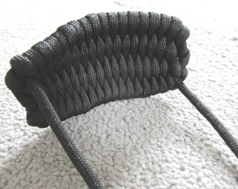 SLINGSHOT POUCH Paracord *Hand Made in UK* Self Defence or Hunting Rock Sling - Choose your color