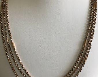 A Victorian Longuard Chain 9k Gold