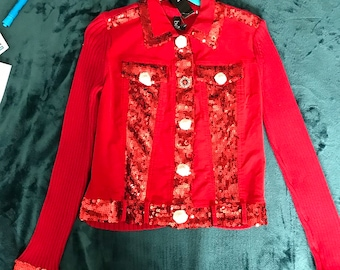 Berek new with tags sequin sweater jacket size PL