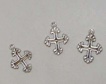Classic and Modern Silver Cross Charm  10 for 2.99