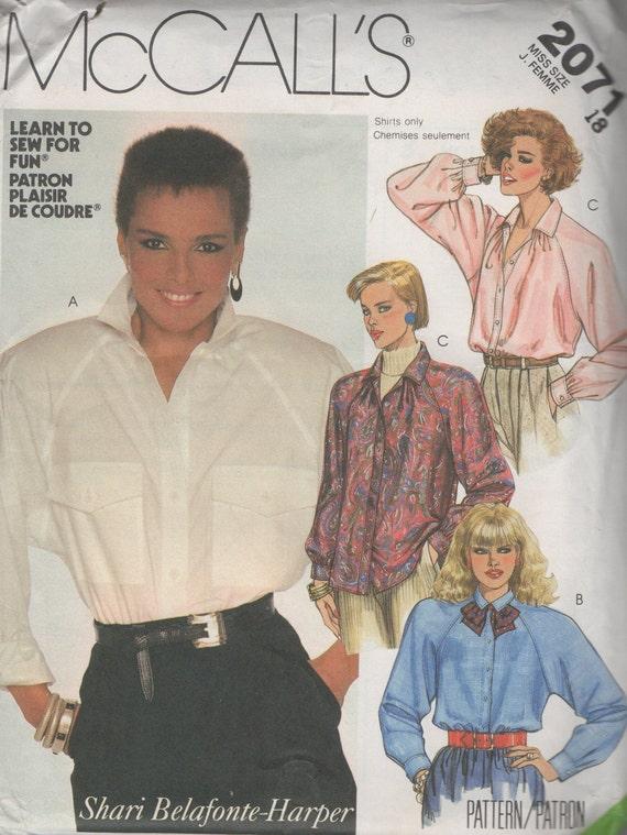 Falta de camisa blusa costura patrón solía 2071 tamaño 18 40