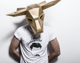 Bull Mask - Build your own from recycled card