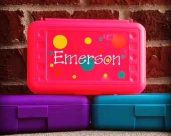 Pencil Box, Personalized Pencil Box, Personalized Crayon Box, Pencil Case, Monogram Pencil Box, Kids Storage Box, School Supplies