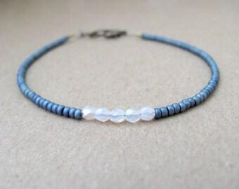 Friendship Bracelet, Blue Bracelet, Beaded Bracelet, Seed Bead Bracelet, Blue Friendship Bracelet, Stacking Bracelet, Hawaii Jewelry