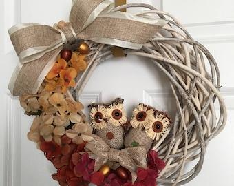 Owl wreath decor