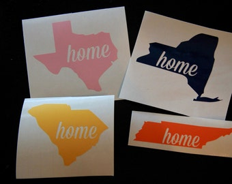 ANY State Home Vinyl Decal