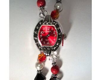 Swarovski Crystal beaded watch