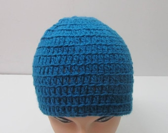 Adult Beanie Hat~Sapphire~ Ready to Ship
