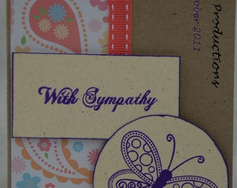 With Sympathy Card Handmade Card