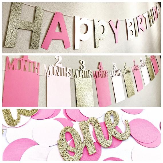 Pink & Gold Birthday Decorations