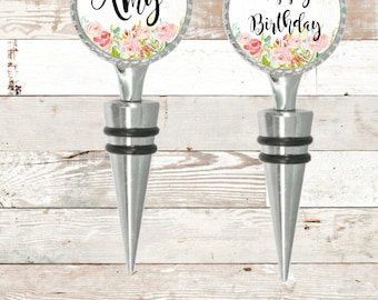 Birthday Gift Wine Stopper Wedding Gift Mom and Dad Gift Anniversary Wine Stopper Ryelle Personalized Wine Stopper Bottle Stopper