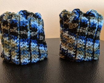 Crocheted Boot Cuffs, Multi Colored, Boot Socks, Clothing, Women's Clothing