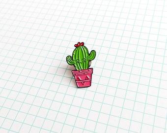 Cactus enamel lapel pin, kawaii pins, cute badges