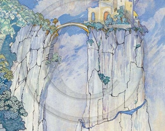 Fairy Tale Castle, Neuschwanstein, 1920s Art Print