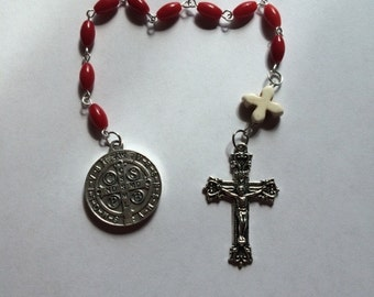 Red Single Decade Rosary