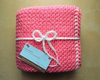 Simply Adorable U Crochet Pink Baby Blanket, Crochet Pink Baby Afghan, Handmade Pink Baby Blanket, Pink Baby Throw, Baby Girl Blanket