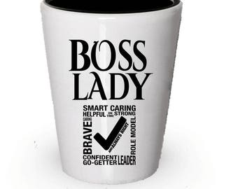 Boss Lady Shot Glass, Gifts for Women, Boss Lady gift, Gift for Boss lady