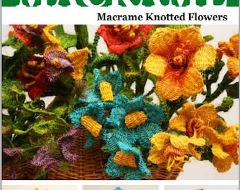 How to make Macrame Flowers? - Macrame Knotted Flowers E-Book in English