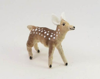 Vintage Inspired Spun Cotton Fawn Ornament/Figure (MADE TO ORDER)