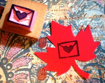 Love letter rubber stamp//hand carved rubber stamp