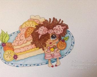 INSTANT DOWNLOAD Digital Digi Stamps Big Eye Big Head Dolls NEW Bestie Img680 My Besties By Sherri Baldy