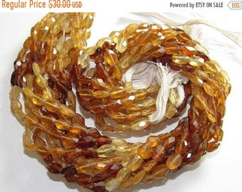 "Natural Hessonite Faceted Oval Shape Beads Size Approx 5X5MM Lenght Approx 14""Inch"