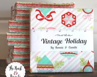 "Vintage Holiday by Bonnie & Camille  for Moda Charm Pack 5"" Squares"