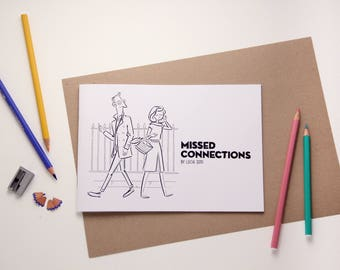 Missed Connections Adult Colouring Book