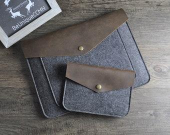 "Triangle flap felt macbook sleeve case for new macbook 12 "" / macbook air 11 "" 13 "" / macbook pro retina cover bag felt laptop case sleeve"