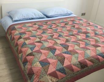 Patchwork quilt queen quilt lap quilt