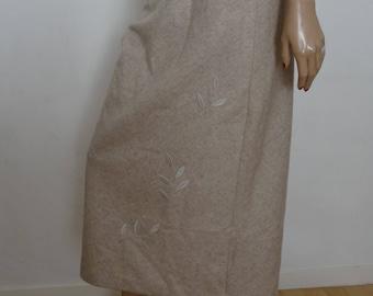 Skirt size beige fan the Hill 40 / uk 12 / us 8