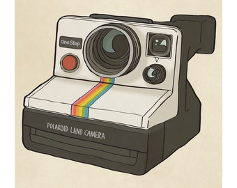 Polaroid Camera - Illustration Art Print
