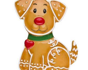 Gingerbread Dog Ornament  Dog Ornament  Personalized Christmas Ornament