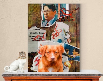 Nova Scotia Duck Tolling Retriever Dog Poster To Kill a Mockingbird Movie Print Dog Portrait from Photo Gift for Her Gift For Him