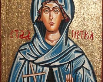 Orthodox Christian Saint Parascheva handpainted icon