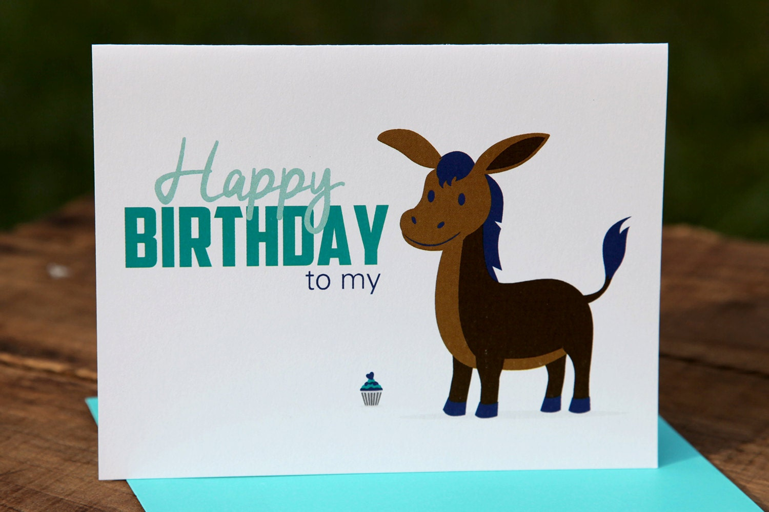 Happy birthday to my donkey ass birthday card happy zoom bookmarktalkfo Image collections
