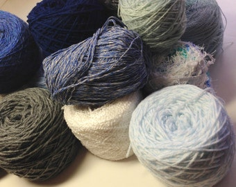 Mystery Box of Yarn, Knitting Supplies, Refresh Your Stash, Elements Collection SKY